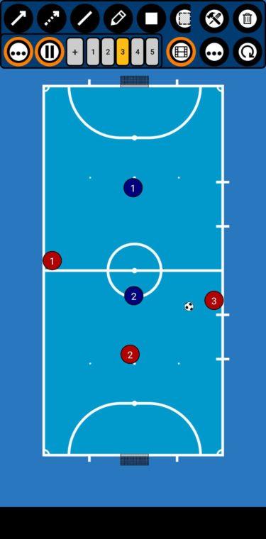 勝てる社会人競技フットサルチーム作り/カウンターアタック 攻撃編6:3対2 練習方法