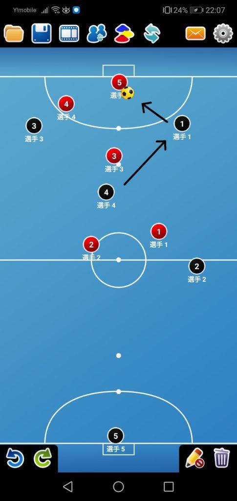 赤の4や赤の3の身体の向きが完全にゴールに向いてしまっていたらもったいないですね。