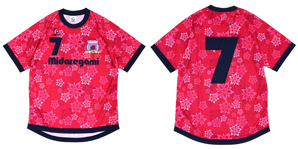 サッカー フットサル ユニフォーム事例/桜柄(昇華プリント/イージーオーダー/公式戦対応)