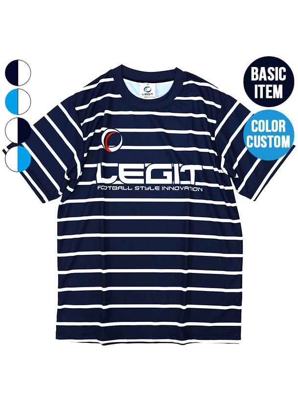 4カラー|マリンボーダープラクティスシャツ