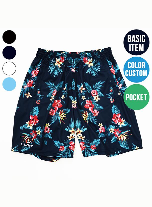 4カラー|ボタニカル柄ポケット付きプラクティスパンツ