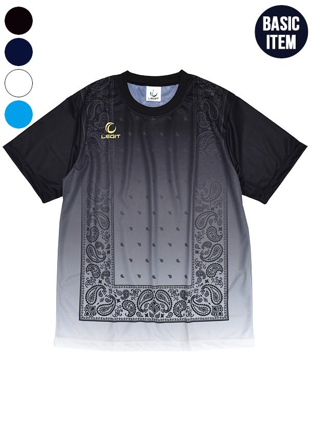 4カラー|グラデーションペイズリーゲームシャツ